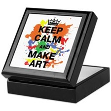 Keep Calm and Make Art Keepsake Box