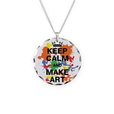 Keep Calm and Make Art Necklace