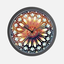 Fire Rose Mandala Lt3 Wall Clock