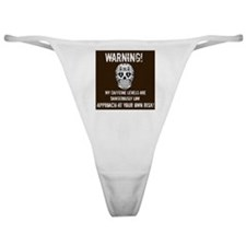 Warning! Caffeine Levels Low! Classic Thong