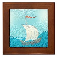 Sailboat Framed Tile