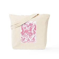 Rose Multidragon Tote Bag