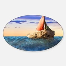 Brendans Boat horiz nar lt2 Sticker (Oval)
