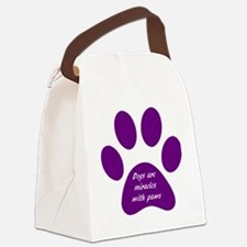 purple dogs are miracles  Canvas Lunch Bag