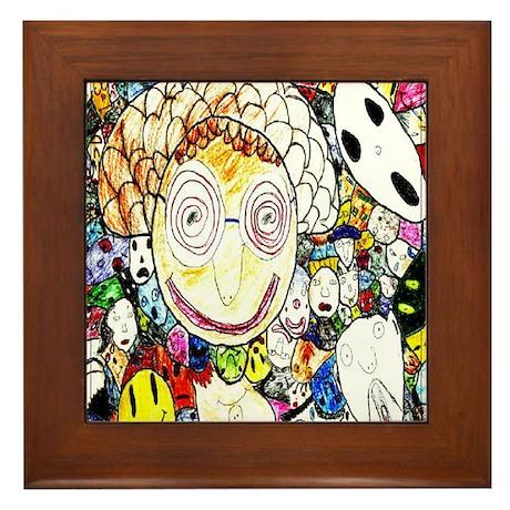 MILLIONS OF FACES - SEAN ART Framed Tile