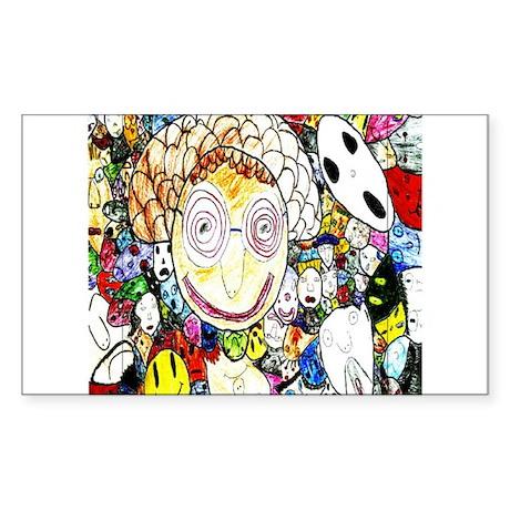 MILLIONS OF FACES - SEAN ART Rectangle Sticker