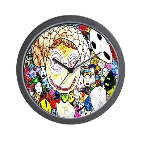MILLIONS OF FACES - SEAN ART Wall Clock