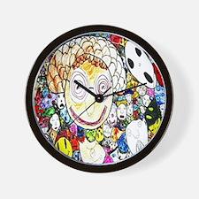 MILLIONS OF FACES - SEAN ART Wall Clock