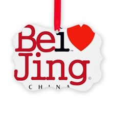 I Love Beijing Iconic RedBlack He Ornament