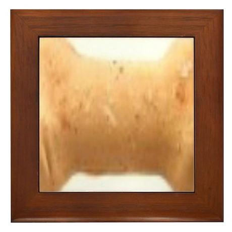 bone biscuit Framed Tile