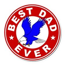 Best Dad Ever Round Car Magnet
