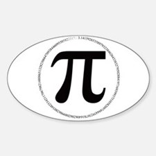 pi Oval Decal