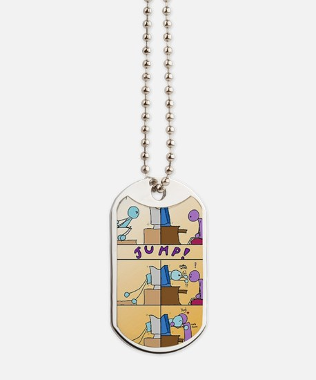 Jumping Through The Web Dog Tags