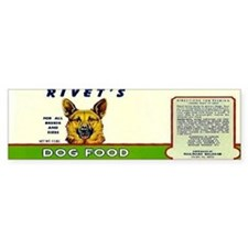 Rivets Dog Food Bumper Sticker