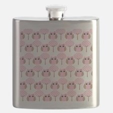 Pink Owls Flask