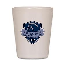 Friesian Sporthorse Logo Shot Glass