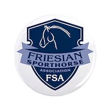 """Friesian Sporthorse Logo 3.5"""" Button"""