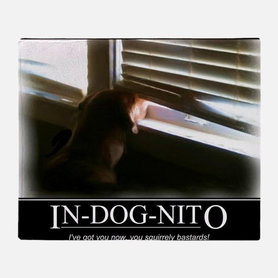 In-dog-nito Throw Blanket