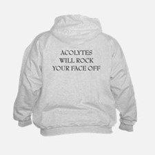 kid acolytes will rock your face off on back sweat