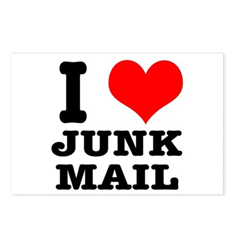 I Heart (Love) Junk Mail Postcards (Package of 8)