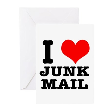 I Heart (Love) Junk Mail Greeting Cards (Package o