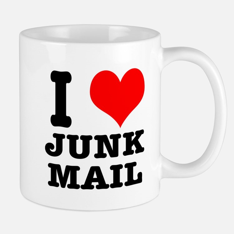 I Heart (Love) Junk Mail Mug