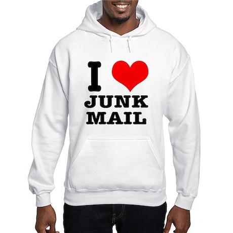 I Heart (Love) Junk Mail Hooded Sweatshirt