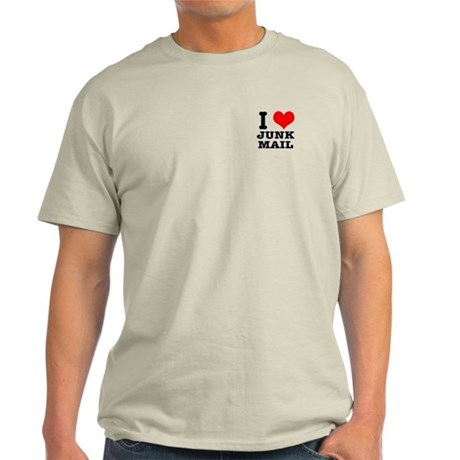I Heart (Love) Junk Mail Light T-Shirt