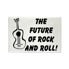 FUTURE OF ROCK-N-ROLL Rectangle Magnet