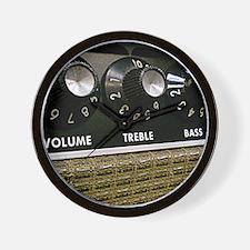 Vintage Amplifier Wall Clock