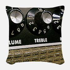 Vintage Amplifier Woven Throw Pillow