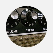 Vintage Amplifier Round Ornament
