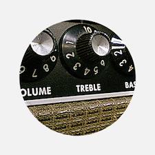"""Vintage Amplifier 3.5"""" Button"""
