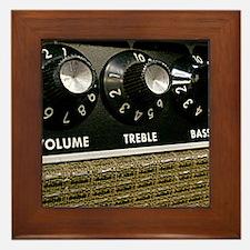 Vintage Amplifier Framed Tile
