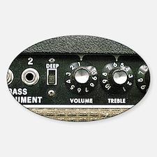 Amplifier Bass Instrument Panel shi Sticker (Oval)
