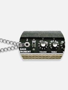 Amplifier Bass Instrument Panel shirt Dog Tags
