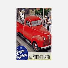 1946 studebaker truck ad Rectangle Magnet