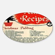 Christmas Pudding Sticker (Oval)