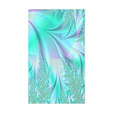 aqua lavender rug Decal