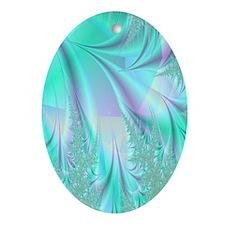 aqua lavender rug Oval Ornament