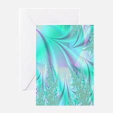 aqua lavender rug Greeting Card