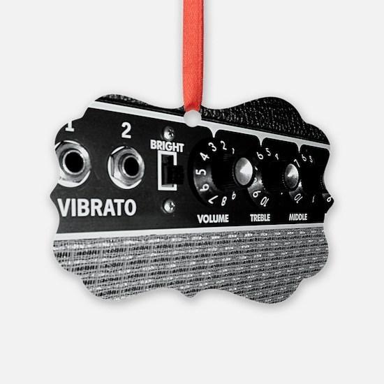 Vintage Amplifier Control Panel Ornament