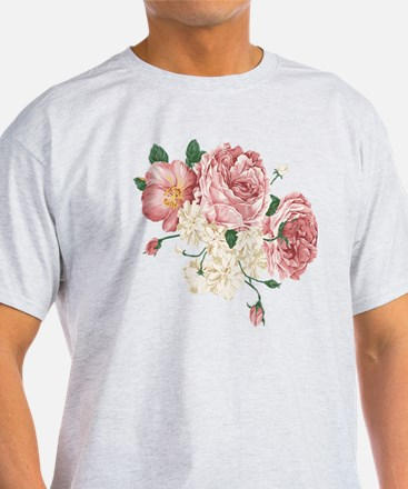 Pink Roses Flower T-Shirt