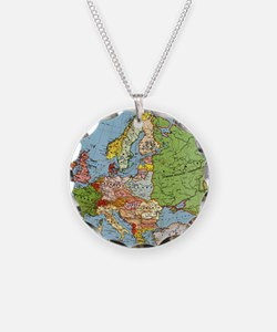 Map of Europe Necklace