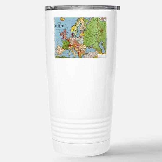 Map of Europe Stainless Steel Travel Mug