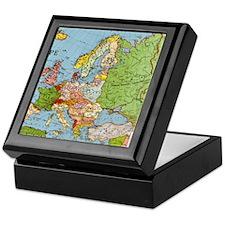 Map of Europe Keepsake Box