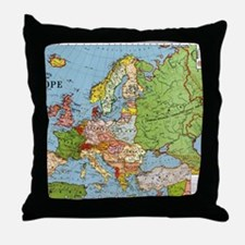 Map of Europe Throw Pillow