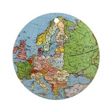 Map of Europe Round Ornament
