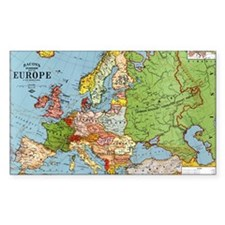 Map of Europe Decal