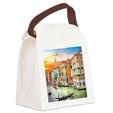 Venice Photo Canvas Lunch Bag